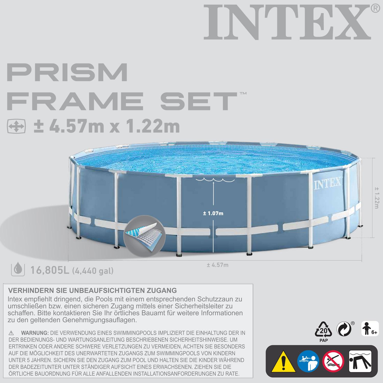 intex 457x122 schwimmbecken swimming pool schwimmbad stahlwand komplettset 28326 ebay. Black Bedroom Furniture Sets. Home Design Ideas