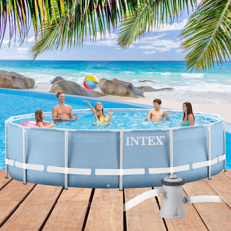 intex swimming pool frame pool set prism rondo 305 x 76 cm. Black Bedroom Furniture Sets. Home Design Ideas
