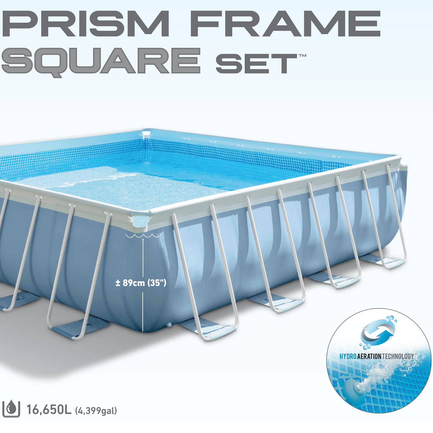 intex frame pool set prism 427x427x107 cm pumpe schwimmbad. Black Bedroom Furniture Sets. Home Design Ideas