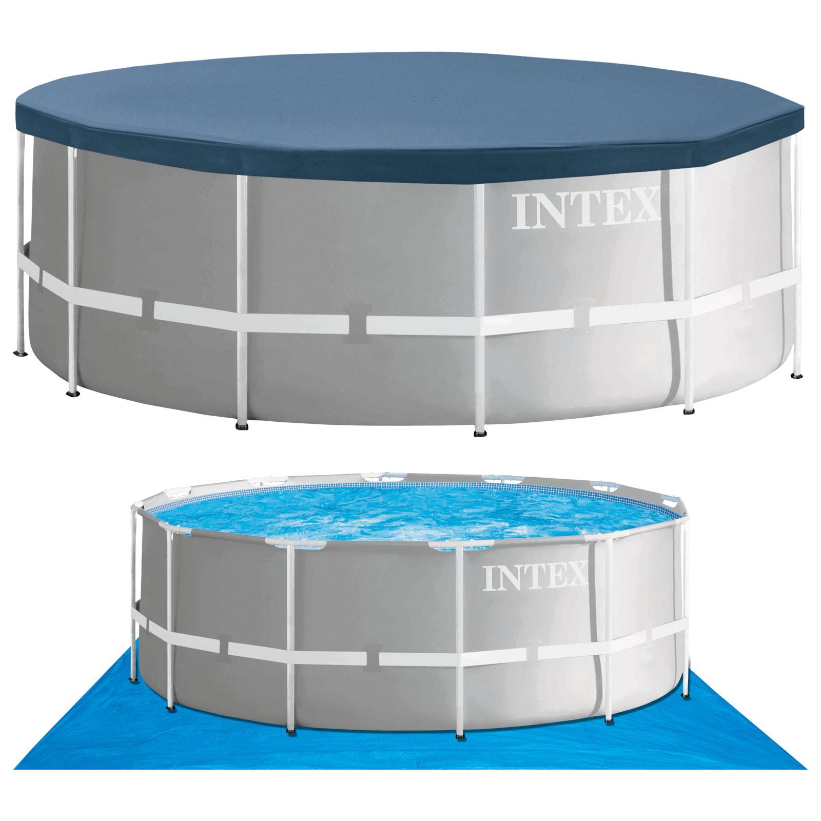 intex swimming pool frame 366x122 cm mit leiter. Black Bedroom Furniture Sets. Home Design Ideas