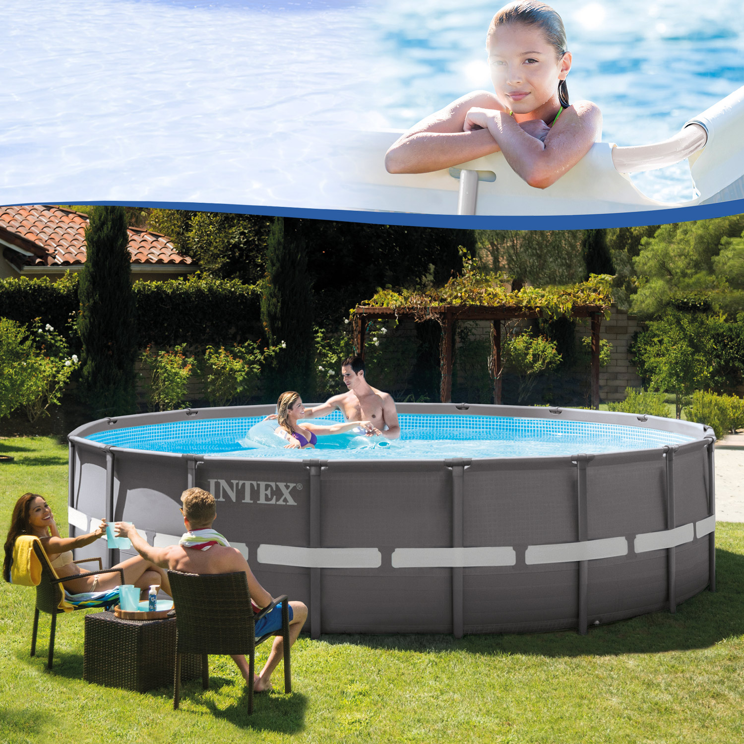 intex 488x122 schwimmbecken swimming pool schwimmbad stahlwand metallrahmen neu ebay. Black Bedroom Furniture Sets. Home Design Ideas