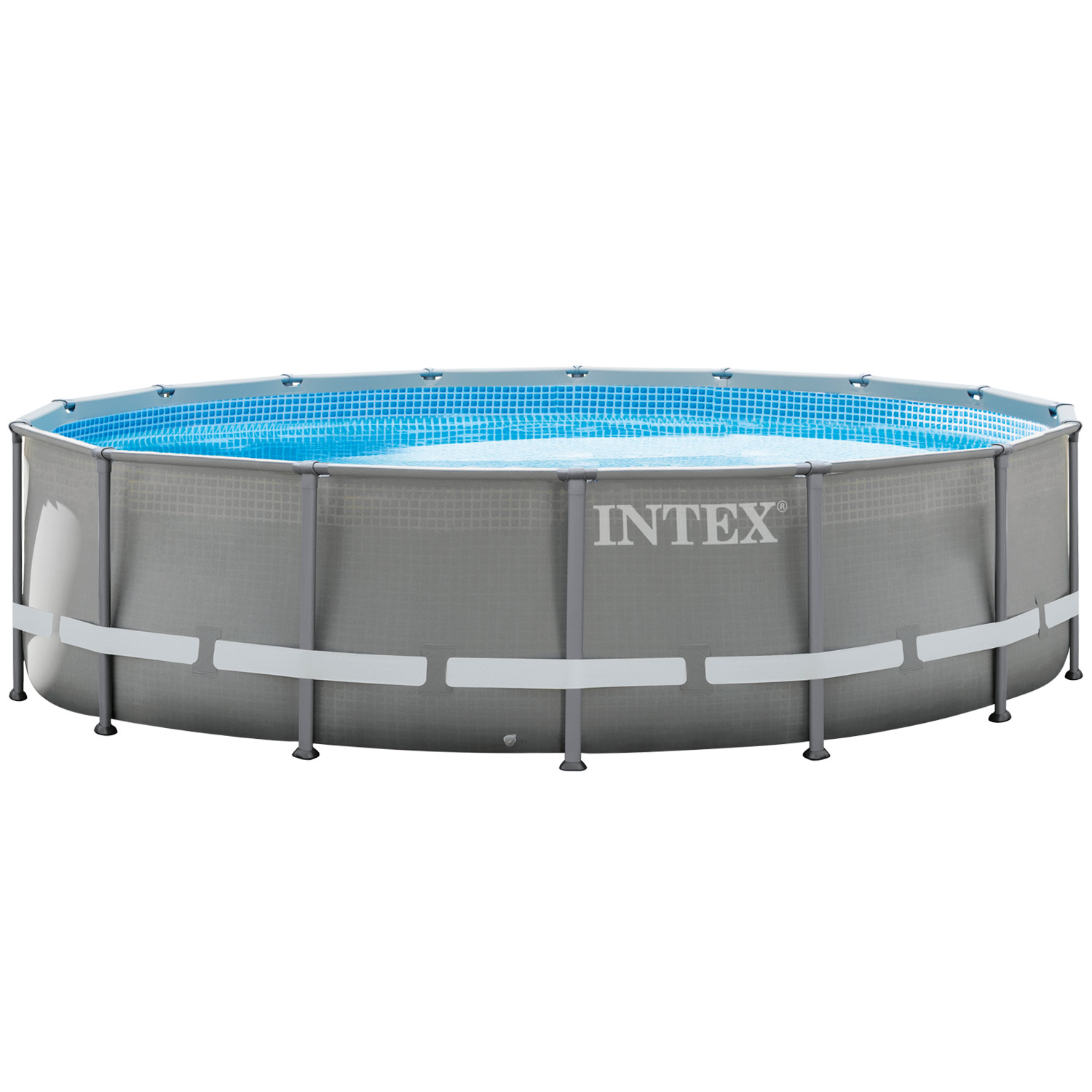intex 488x122 swimming pool steel wall metal frame new. Black Bedroom Furniture Sets. Home Design Ideas