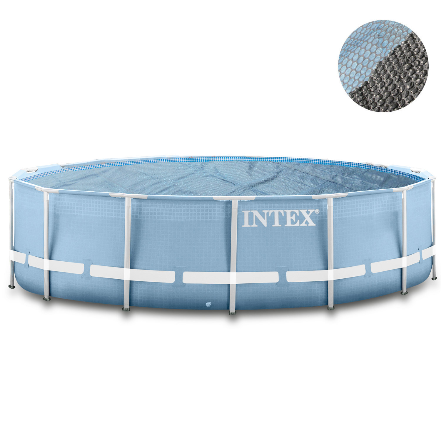 intex swimming pool frame 366x122 cm mit sandfilter leiter solarfolie. Black Bedroom Furniture Sets. Home Design Ideas