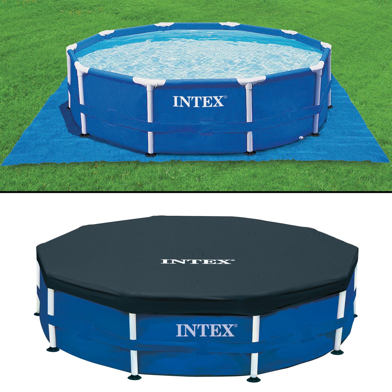 Intex 366x91 schwimmbecken mit sandfilter pool schwimmbad for Aufblasbarer pool mit sandfilteranlage