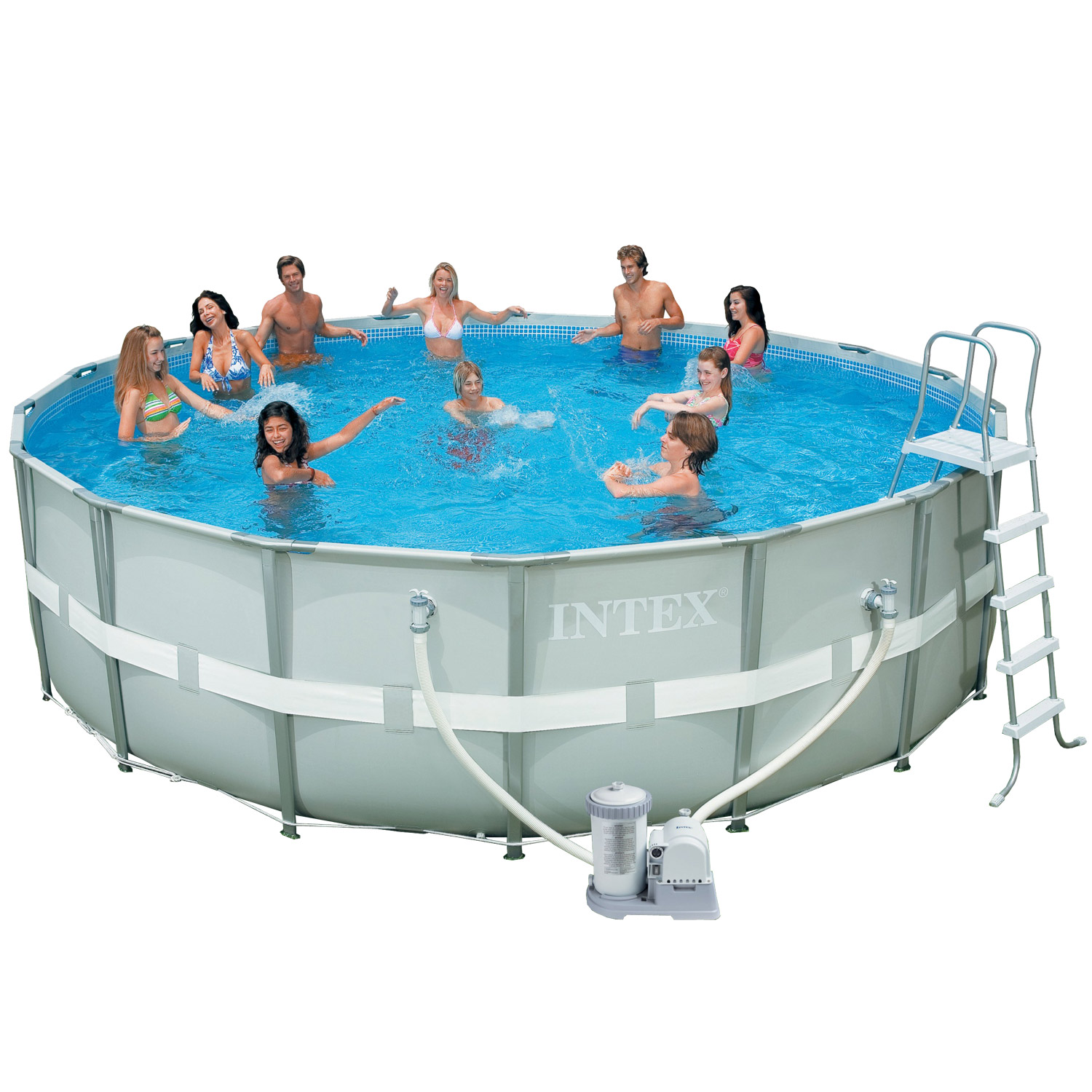 Intex swimming pool frame ultra rondo 488x122 cm komplettset - Swimming pool stahlwand ...