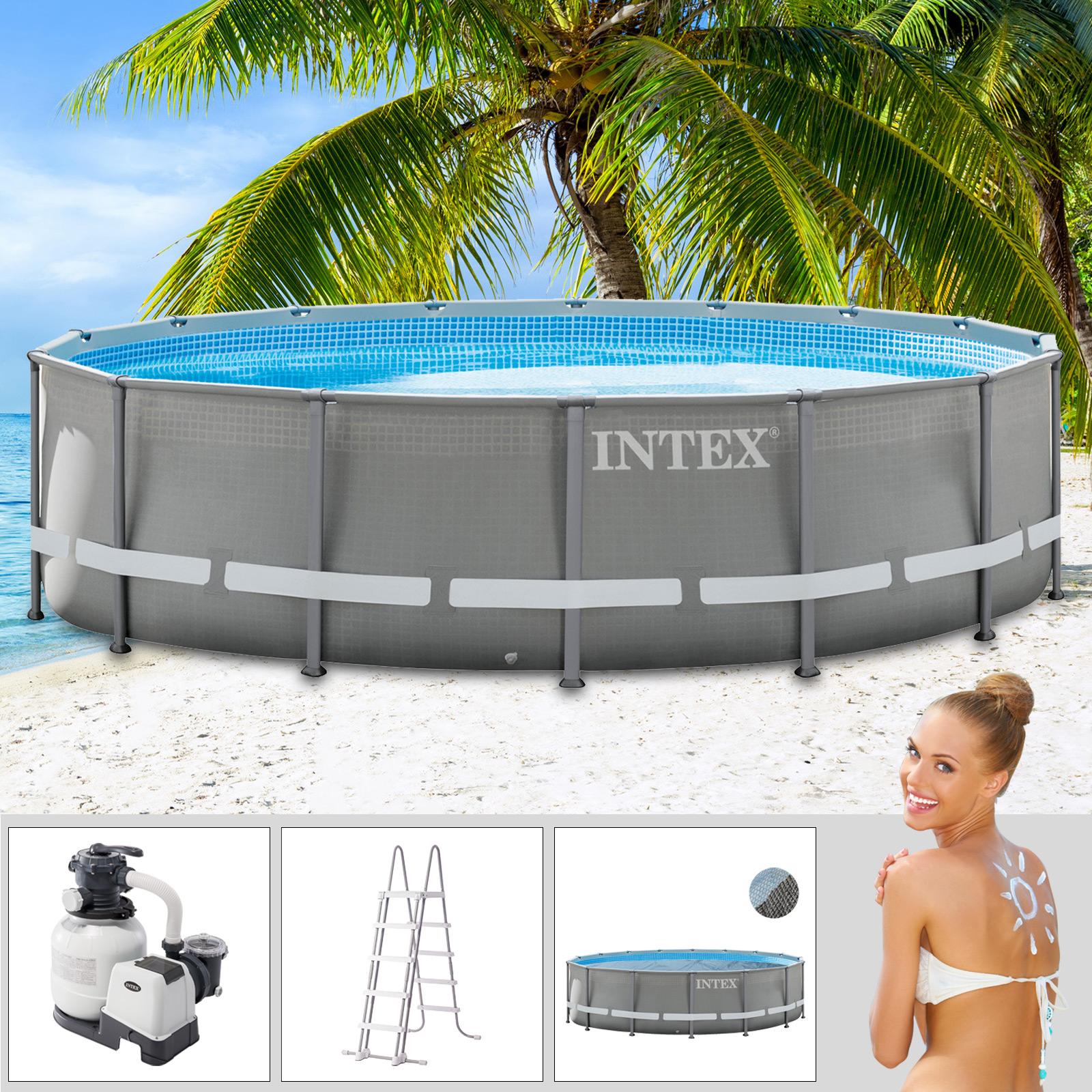 intex 549x132 cm swimming pool ultra frame stahlwand. Black Bedroom Furniture Sets. Home Design Ideas