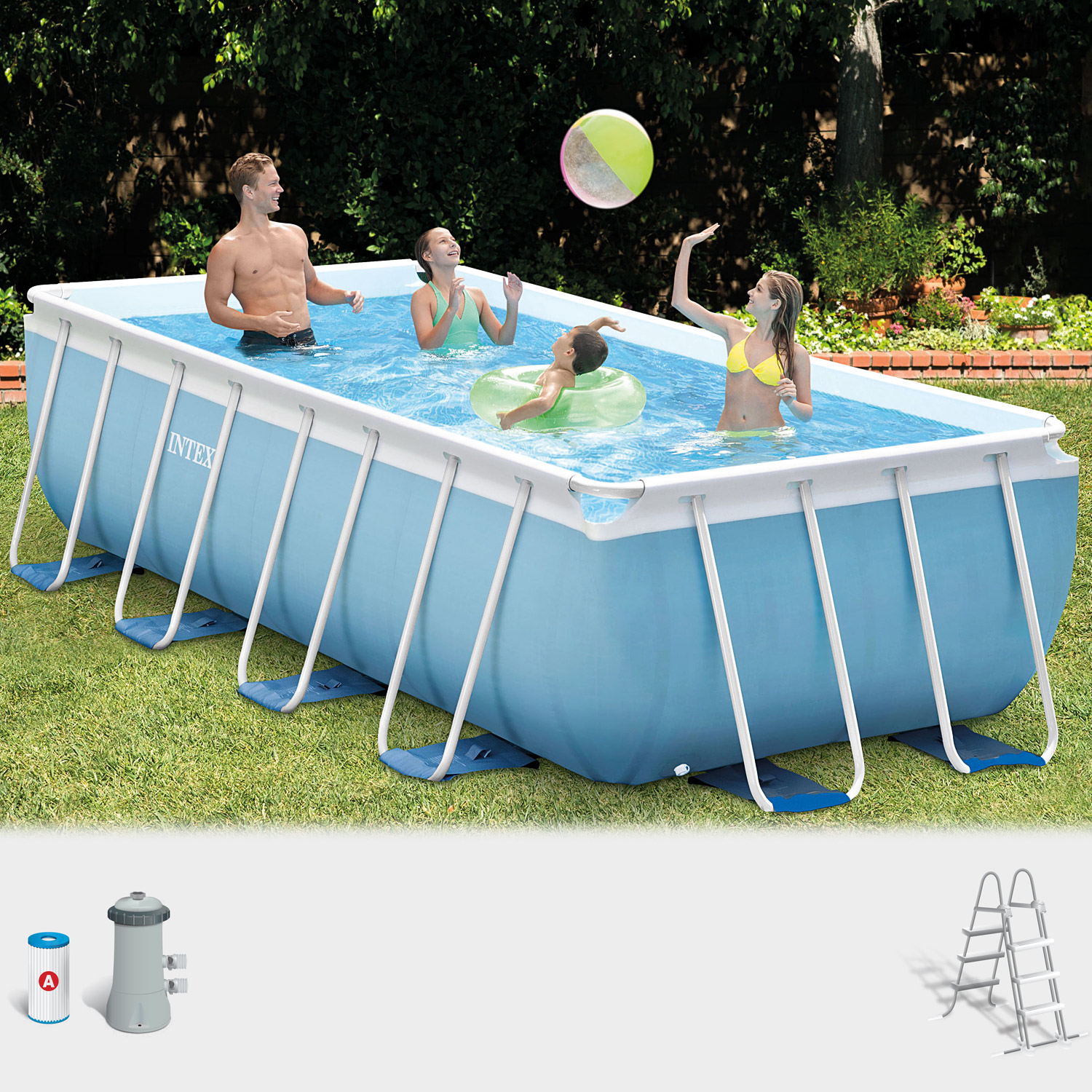 intex pool prism set frame schwimmbecken pool schwimmbad. Black Bedroom Furniture Sets. Home Design Ideas