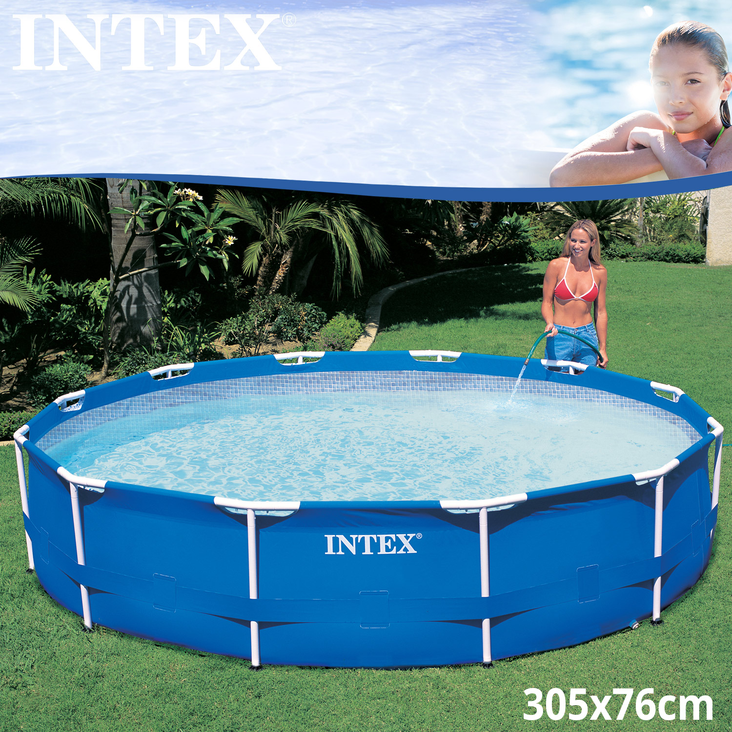 intex frame stahlrohrbecken swimming pool schwimmbad schwimmbecken planschbecken ebay. Black Bedroom Furniture Sets. Home Design Ideas
