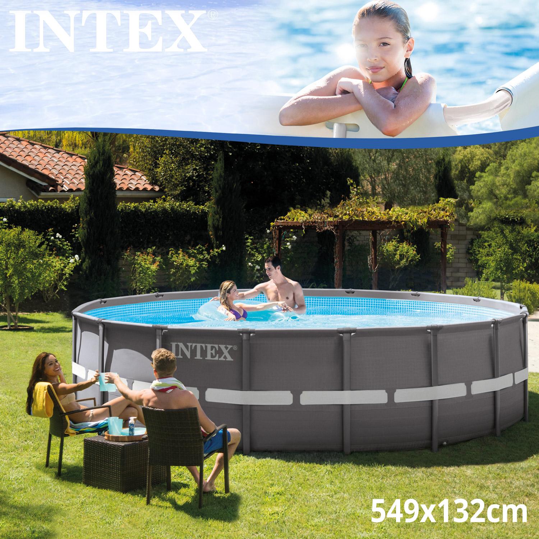 intex frame stahlrohrbecken swimming pool schwimmbad schwimmbecken planschbecken. Black Bedroom Furniture Sets. Home Design Ideas