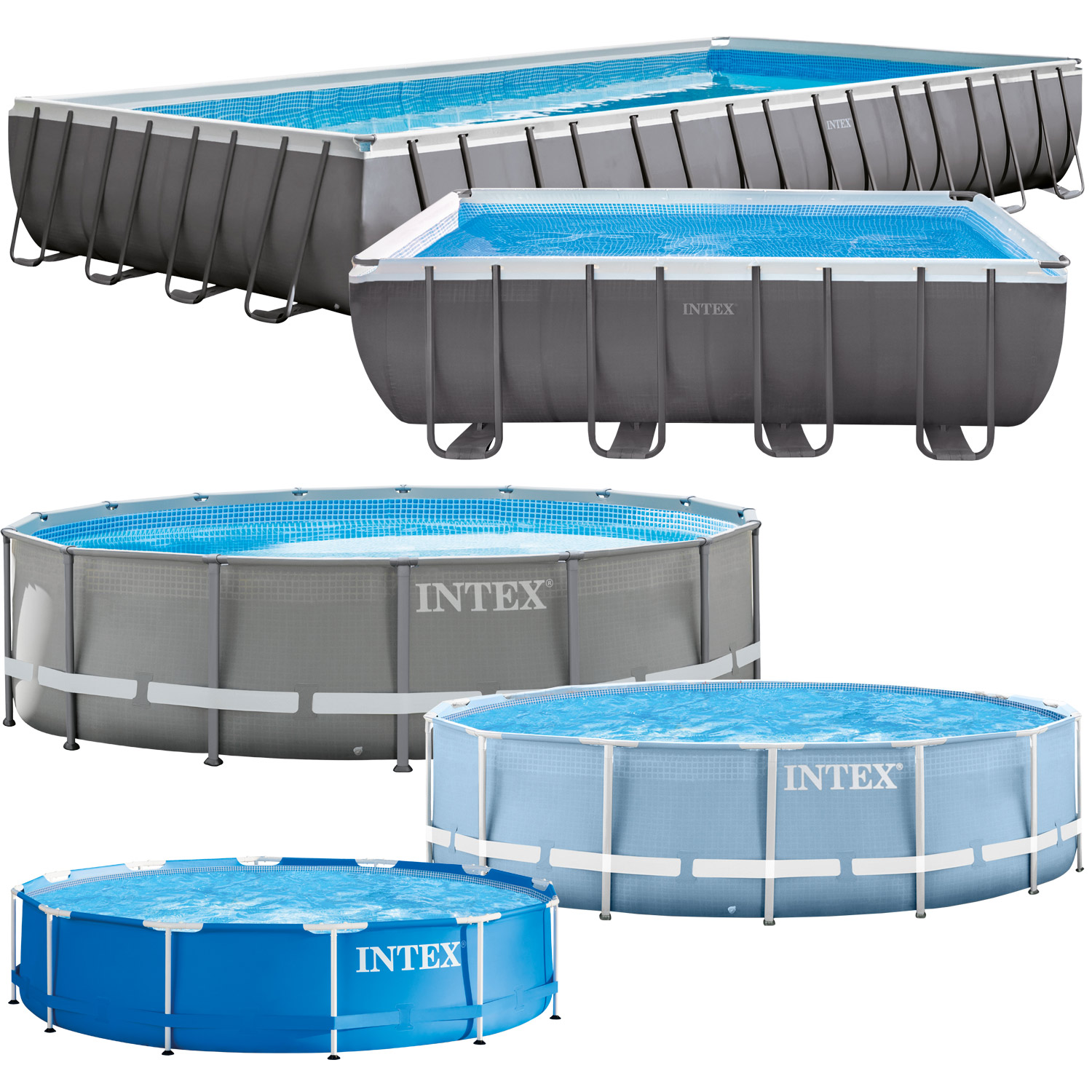 Intex frame stahlrohrbecken swimming pool schwimmbad for Garten pool intex