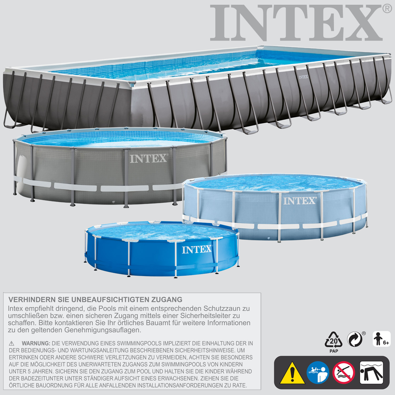 intex frame stahlrohrbecken swimming pool schwimmbad schwimmbecken planschbecken ebay. Black Bedroom Furniture Sets. Home Design Ideas
