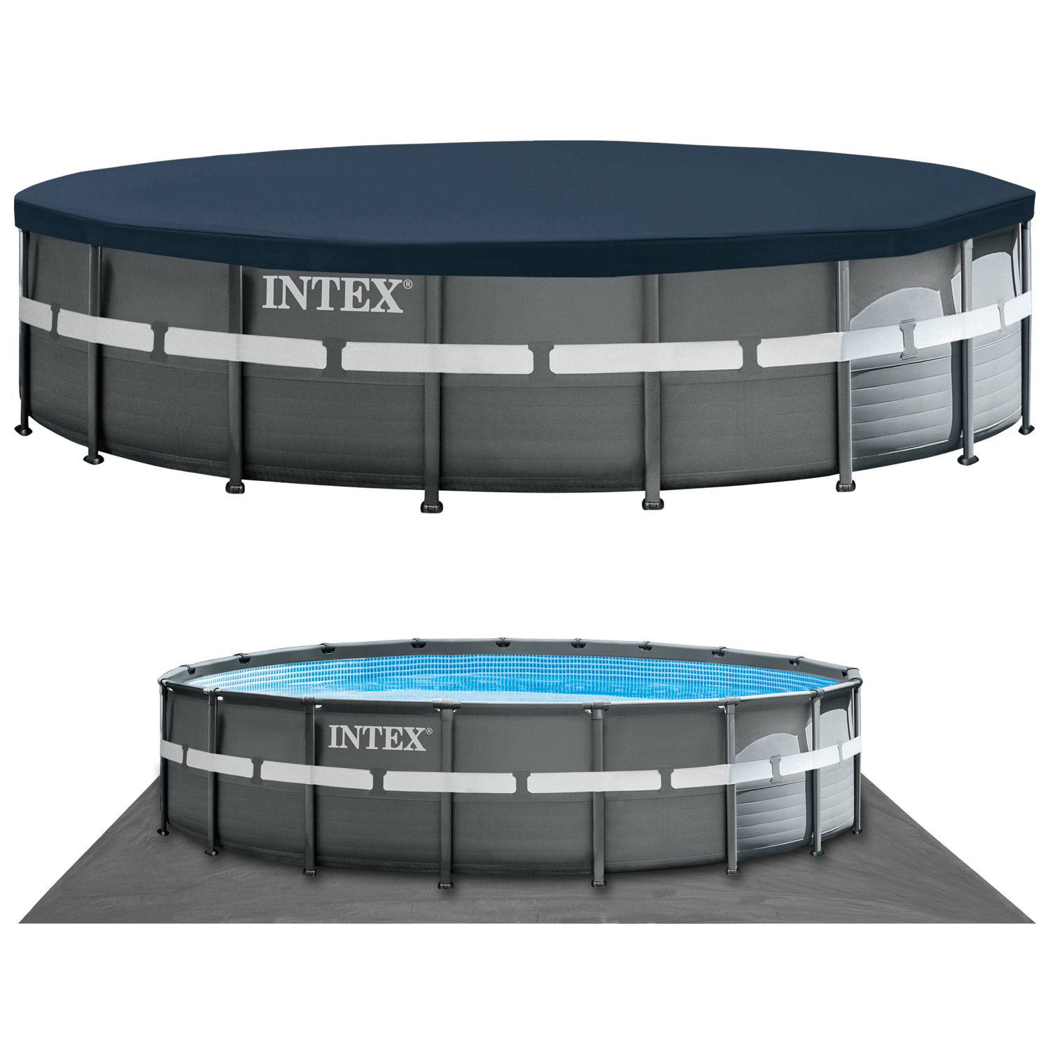 intex 549x132 cm swimming pool ultra frame stahlwand schwimmbad sandfilter 28332 ebay. Black Bedroom Furniture Sets. Home Design Ideas