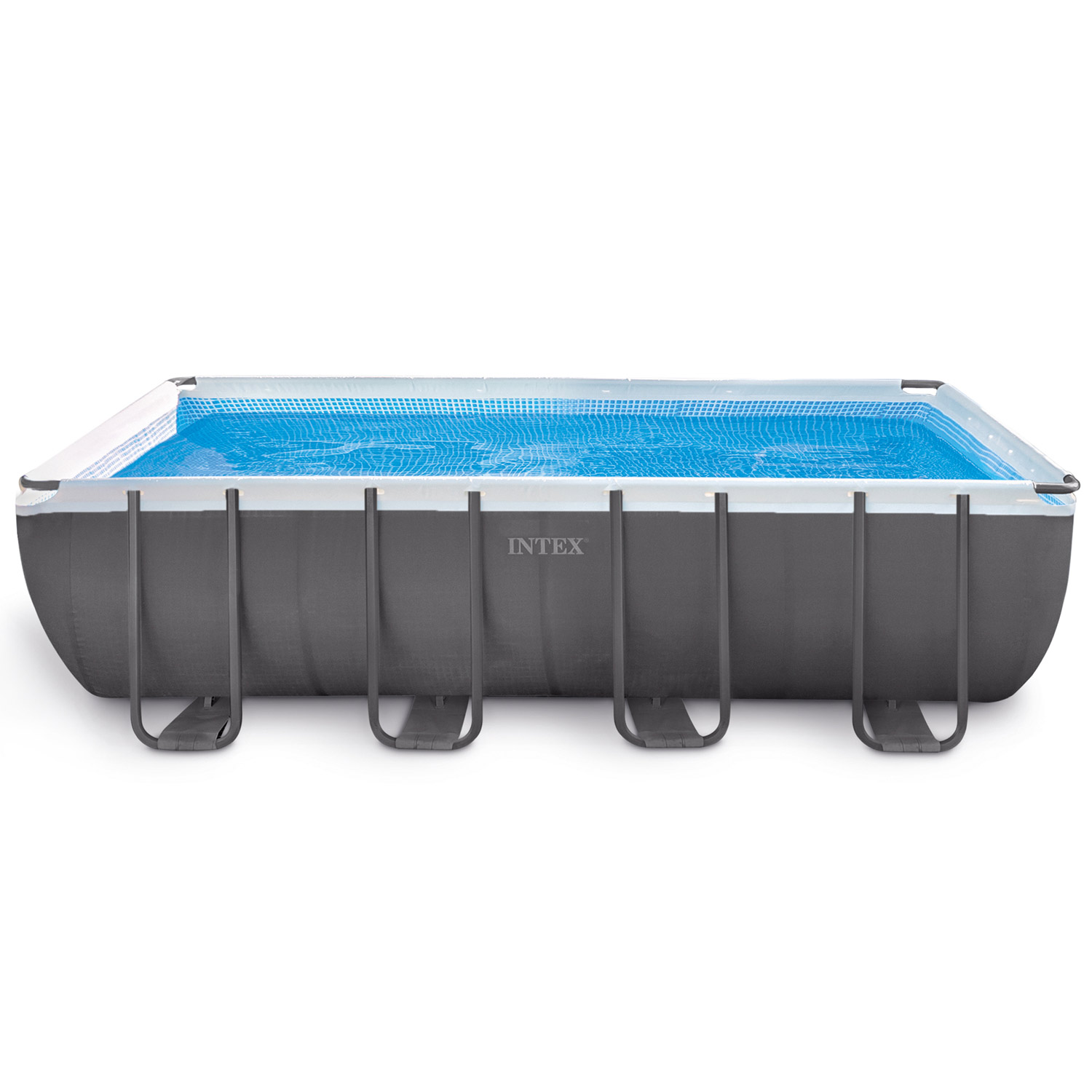Intex 549x274x132 swimming pool set rechteck stahlwand for Swimmingpool stahl