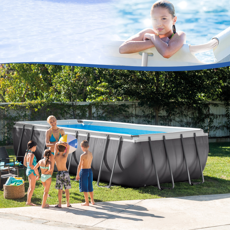 intex 549x274x132 swimming pool frame stahlwandbecken schwimmbecken schwimmbad ebay. Black Bedroom Furniture Sets. Home Design Ideas