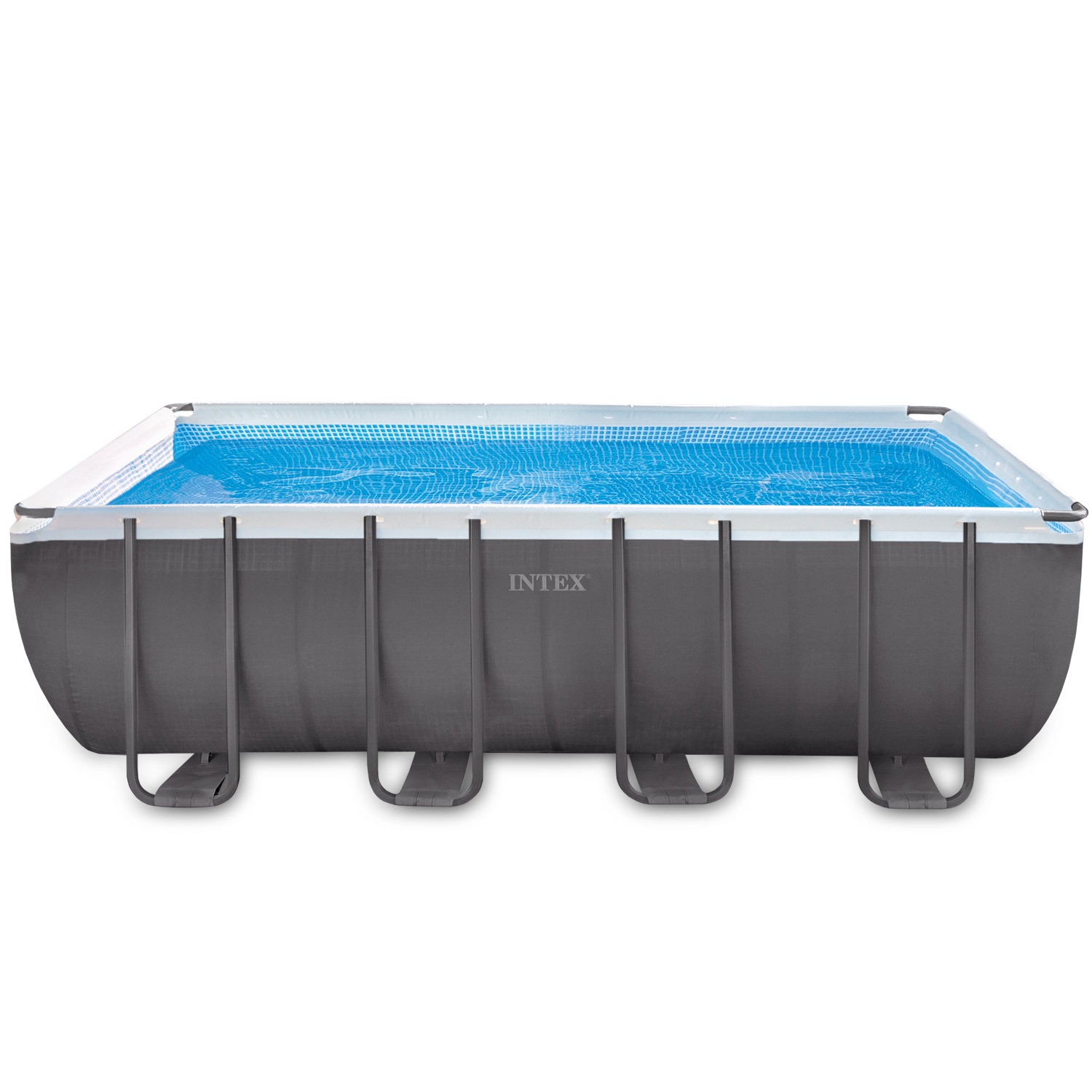 Intex 549x274x132 swimming pool frame stahlwandbecken for Pool schwimmbecken