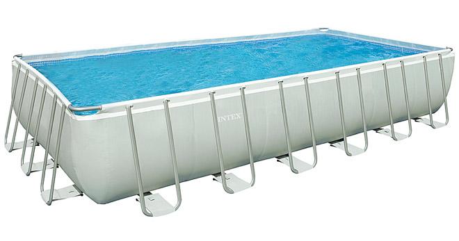intex swimming pool frame ultra quadra 732x366x132 cm. Black Bedroom Furniture Sets. Home Design Ideas