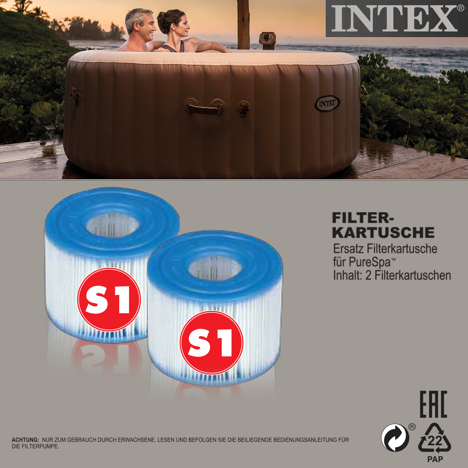 2 intex 29001 pool filter kartuschen ersatzfilter - Pool filter reinigen ...