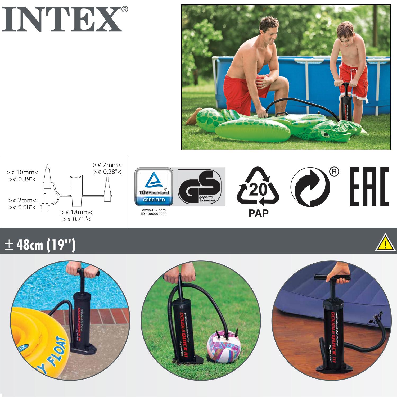 Intex doppelhub luftpumpe pool boot doppelhubpumpe pumpe standpumpe bett 68615 ebay - Pool zum aufpumpen ...