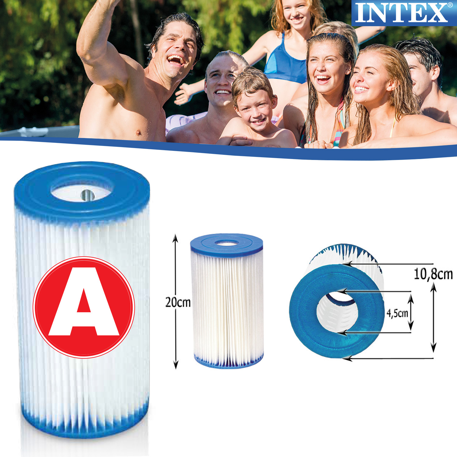 Intex 6x 29000 pool filter a kartuschen ersatzfilter - Pool filter reinigen ...