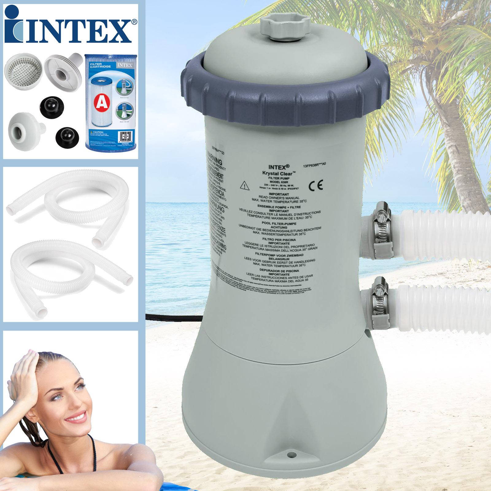 Intex 2271 l//h Swimming Pool Pumpe Filterpumpe Poolpumpe 1 Filter Schwimmbad