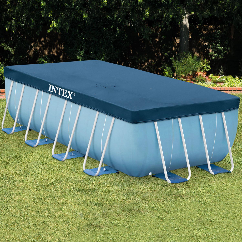 intex abdeckplane f r frame pool prism quadra 400 x 200 cm. Black Bedroom Furniture Sets. Home Design Ideas