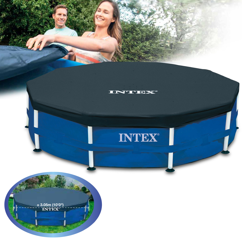 intex abdeckplane 305 366 457 488 549 pool abdeckung plane poolabdeckung frame ebay. Black Bedroom Furniture Sets. Home Design Ideas