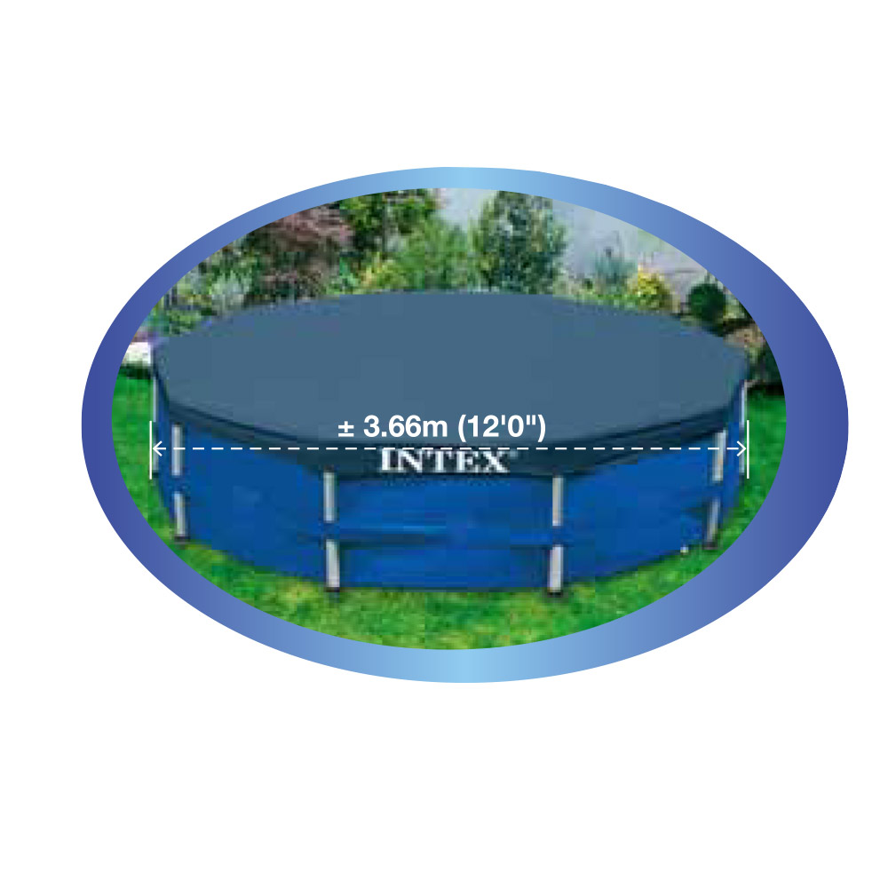 intex 366 cm abdeckplane f r frame pool. Black Bedroom Furniture Sets. Home Design Ideas