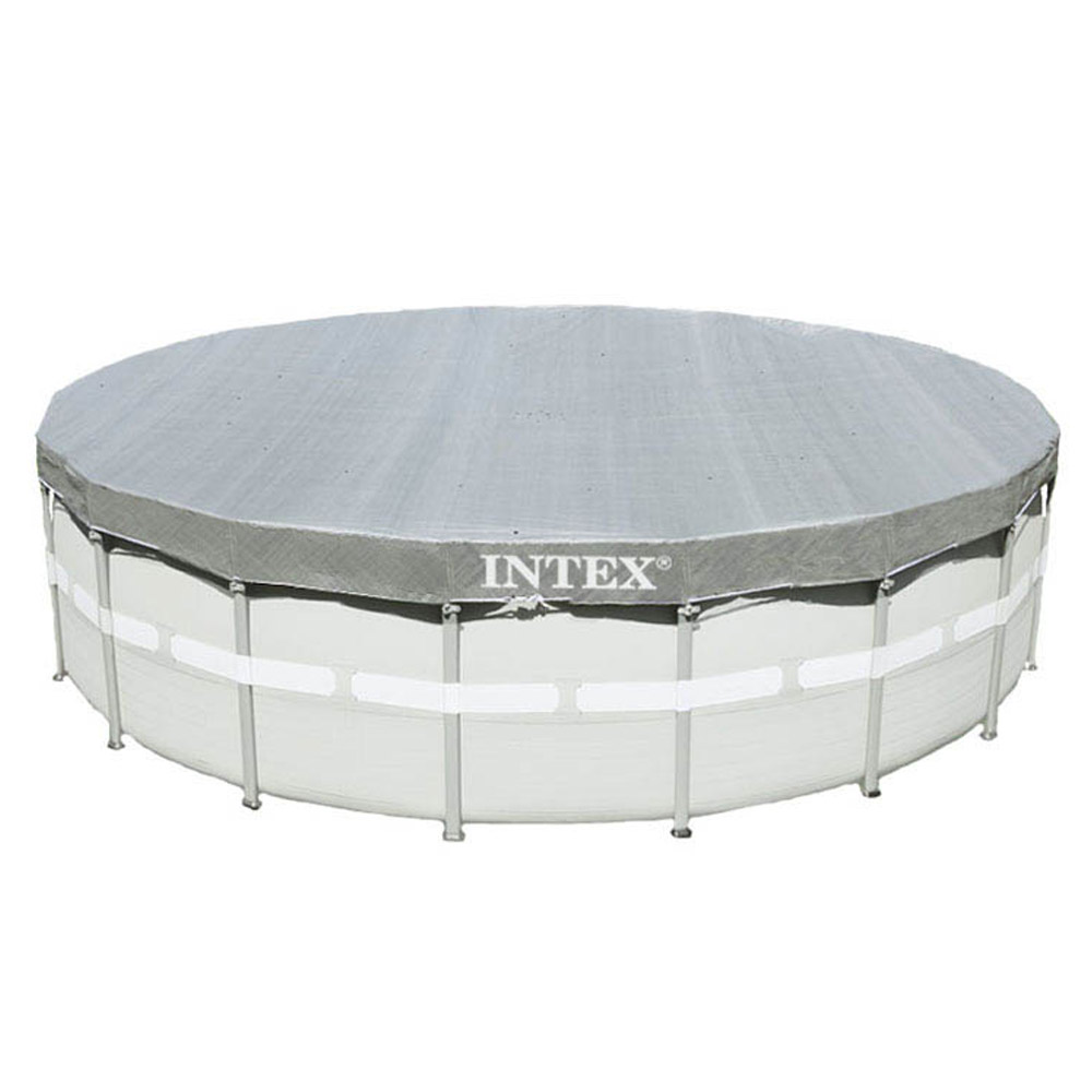 intex 488 cm deluxe abdeckplane f r frame pool. Black Bedroom Furniture Sets. Home Design Ideas