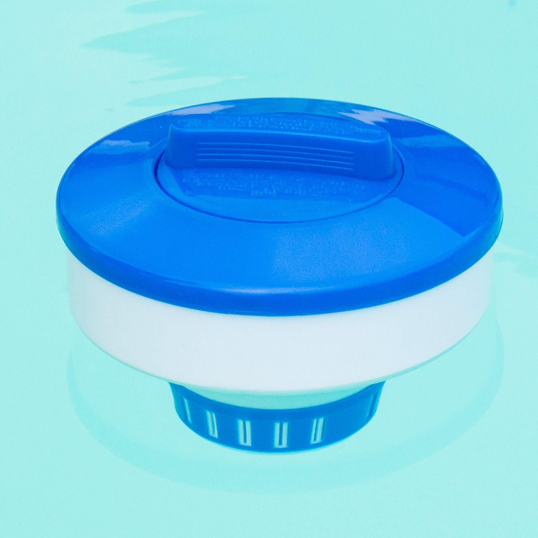 dosierschwimmer pool schwimmbad dosierer chlortabletten chlordosierer 200gramm ebay. Black Bedroom Furniture Sets. Home Design Ideas