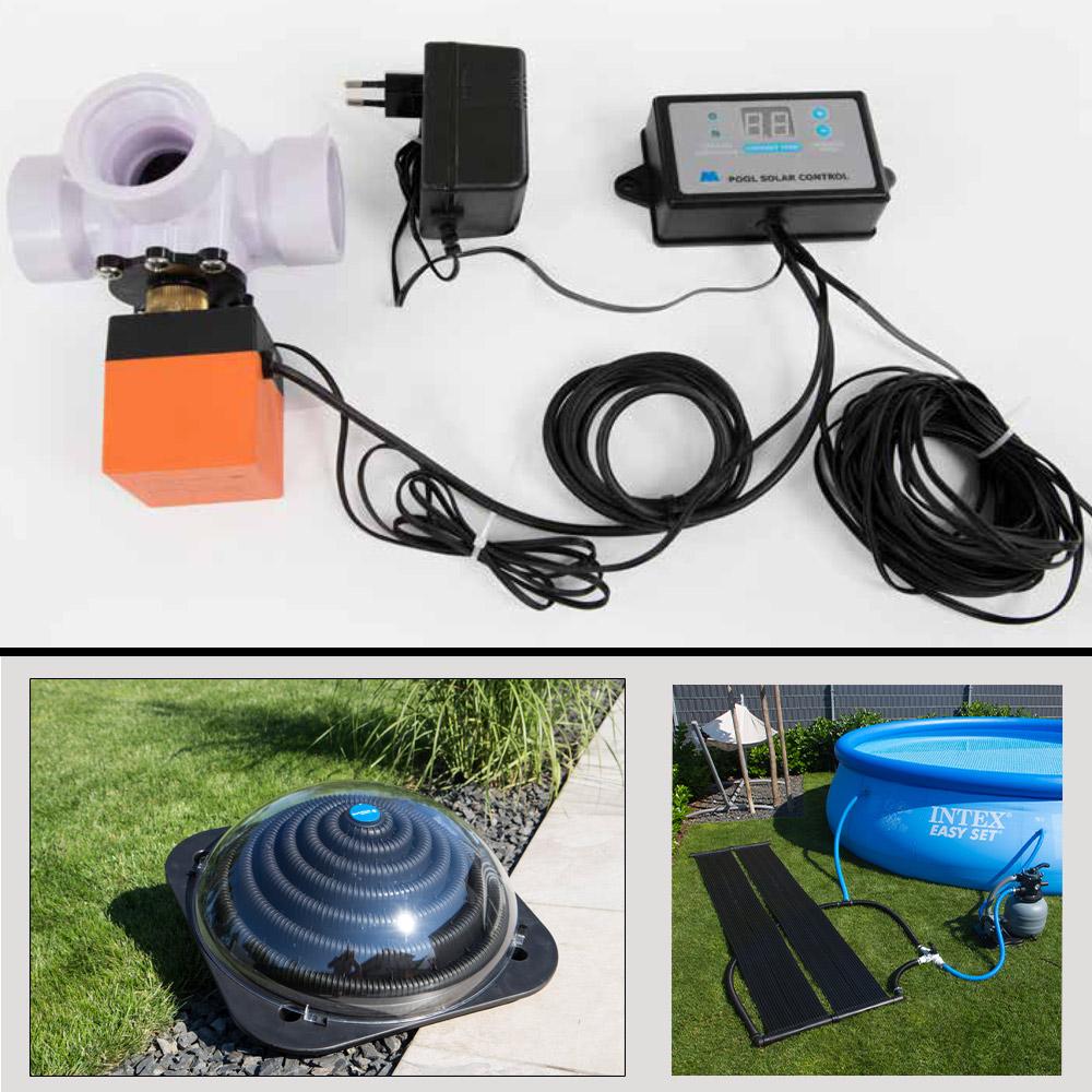 Solar Differenzregler m. 3Wege-Ventil für Pool Poolheizung ...
