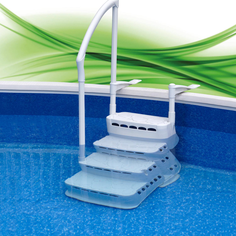 einbautreppe treppe f 120 135cm pool schwimmbad schwimmbecken leiter poolleiter ebay. Black Bedroom Furniture Sets. Home Design Ideas