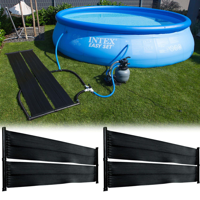 2x Pool 500x70cm Solarmatte Solar Solarabsorber Solarheizung ...