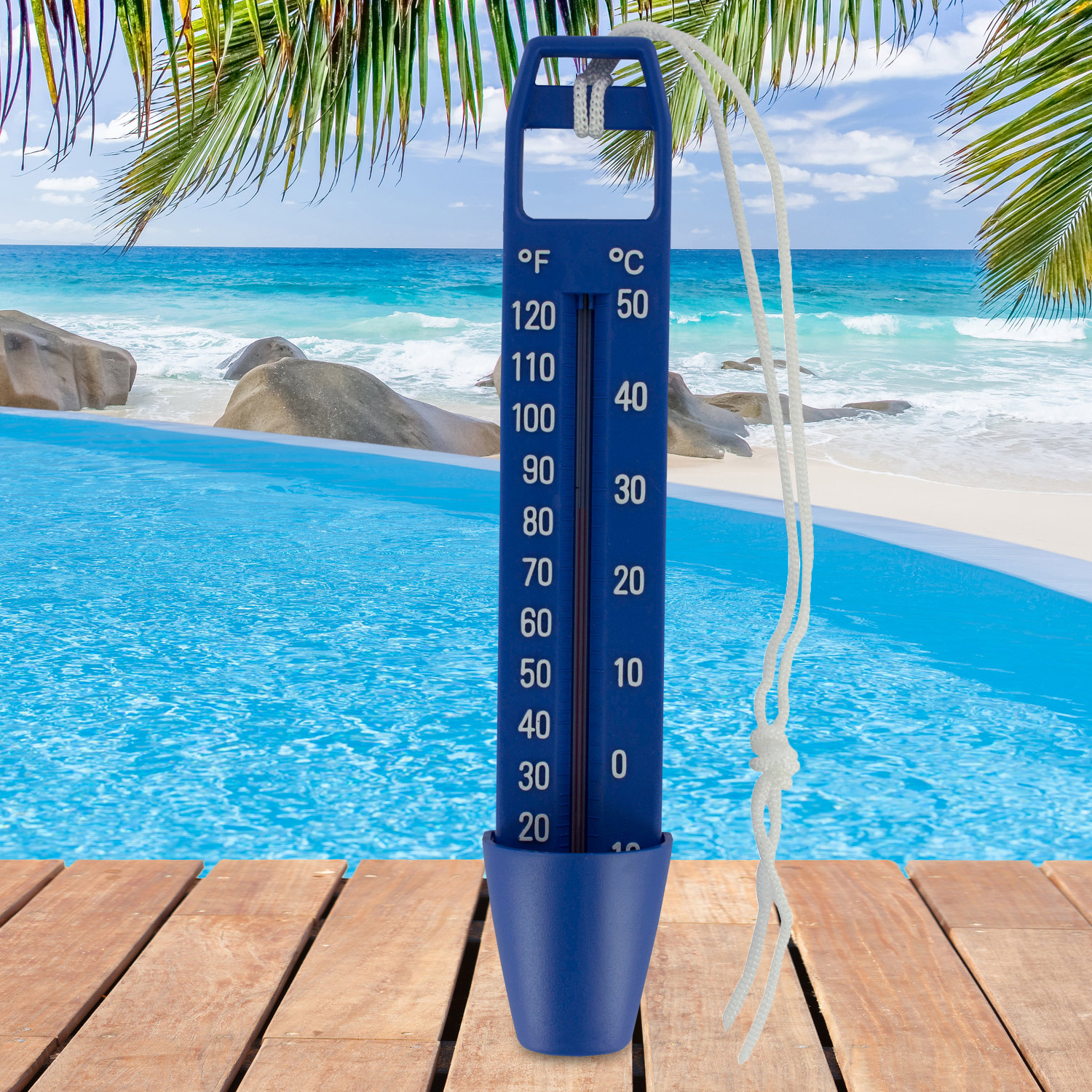 Xxl 25cm pool wasser thermometer poolthermometer for Schwimmbadthermometer
