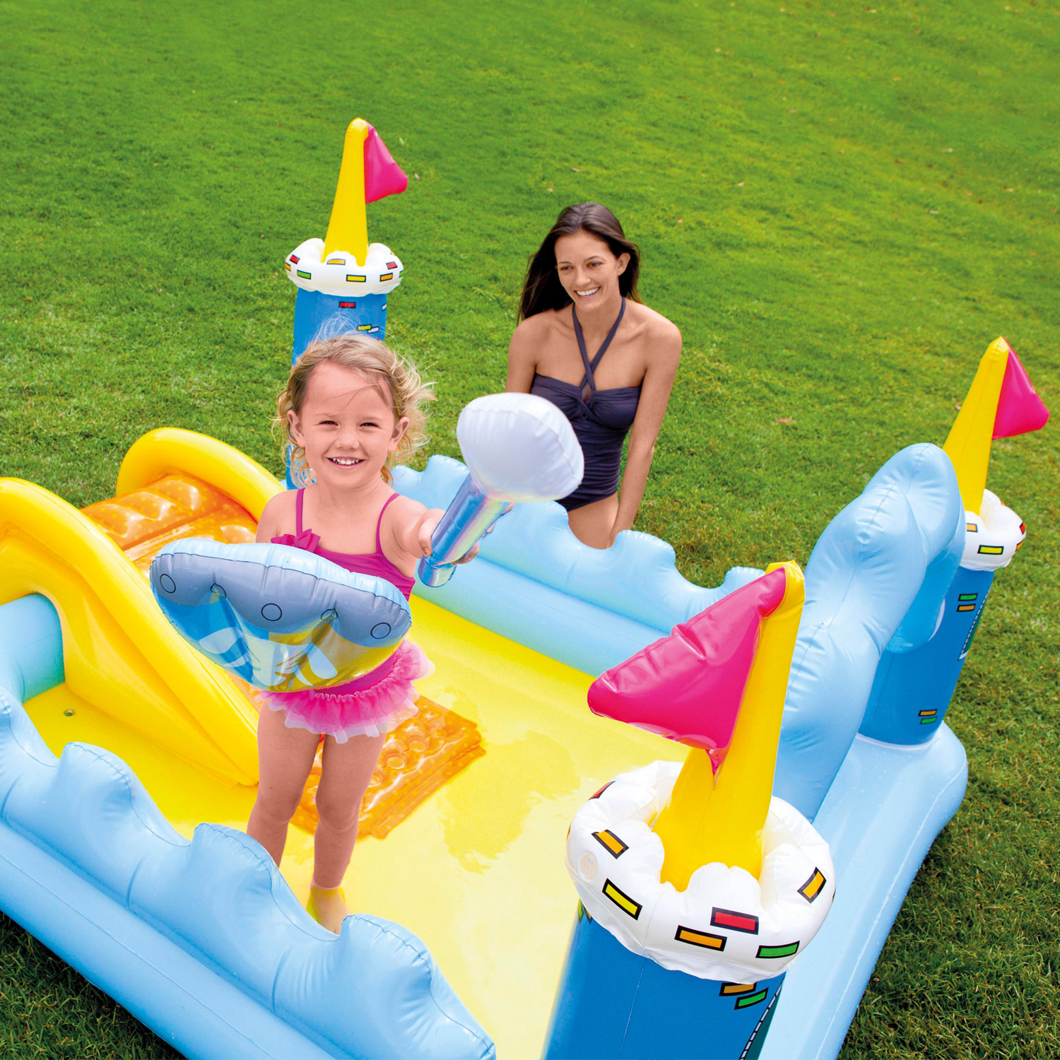intex kinder pool rutsche spielhaus trampolin planschbecken h pfburg babypool ebay. Black Bedroom Furniture Sets. Home Design Ideas