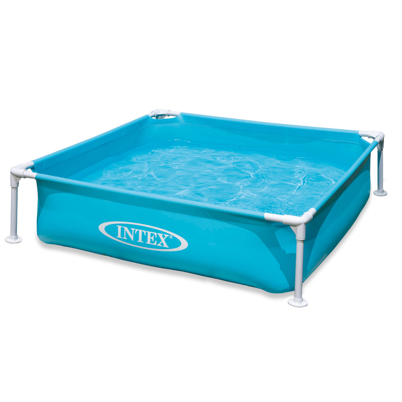 Intex Frame Pool Mini Kinderpool Planschbecken Schwimmbad 122x122x30cm Babypool