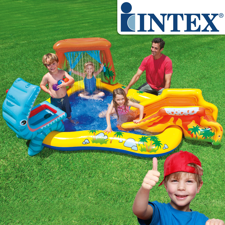 Intex planschbecken kinder pool mit rutsche spielhaus for Garten pool intex