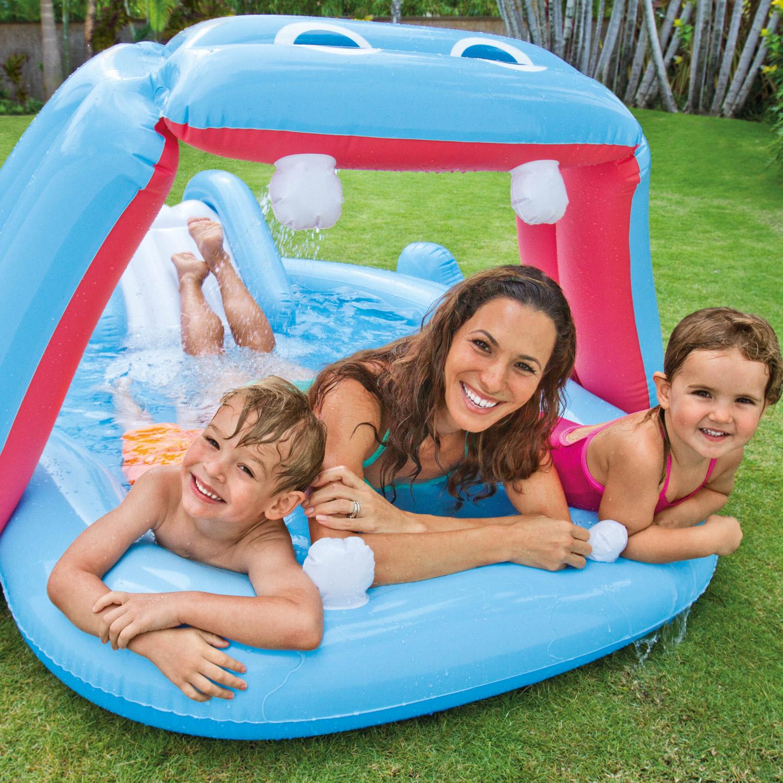 """Intex """"Nilpferd"""" Play Center Pool mit Rutsche 221x188x86cm"""