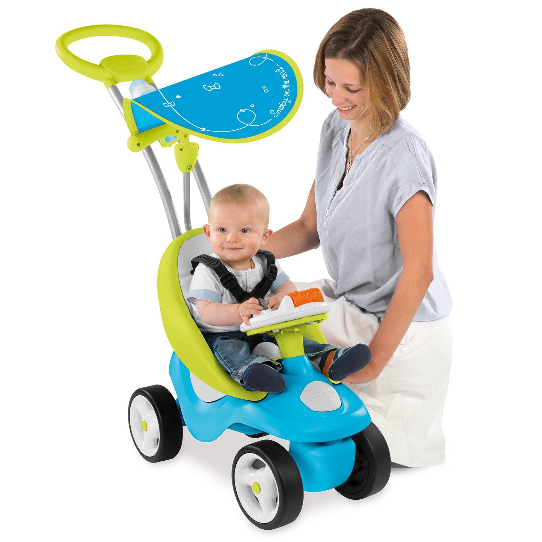 smoby bubble go blau baby rutscher lauflernwagen schiebewagen 2in1 rutscherauto ebay. Black Bedroom Furniture Sets. Home Design Ideas