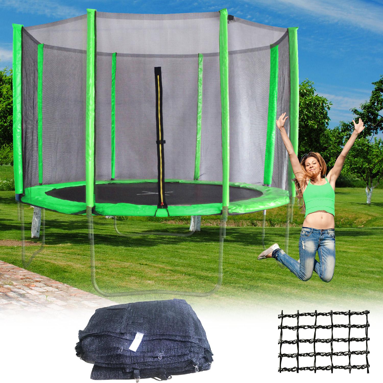 terena ersatznetz sicherheitsnetz f r trampolin 430 cm 8 stangen gr n. Black Bedroom Furniture Sets. Home Design Ideas