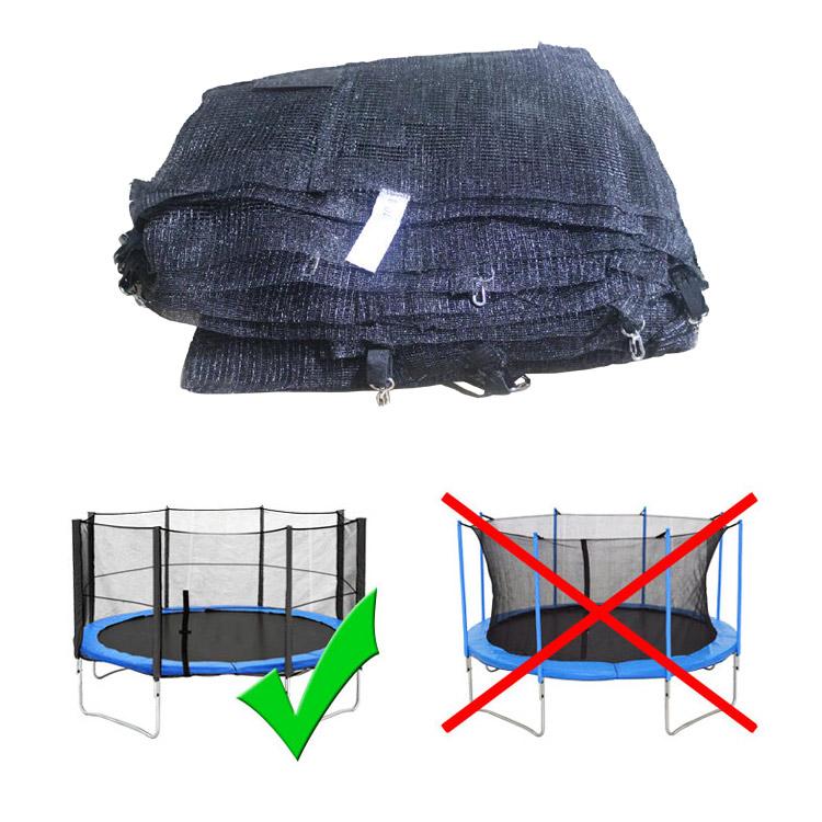 terena ersatznetz sicherheitsnetz f r trampolin 430 cm 8 stangen pink. Black Bedroom Furniture Sets. Home Design Ideas