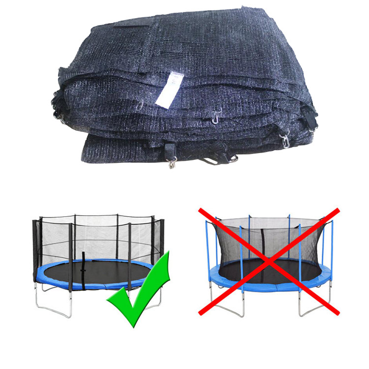 federabdeckung 305 trampolin randabdeckung mit sicherheitsnetz ersatznetz netz ebay. Black Bedroom Furniture Sets. Home Design Ideas