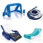 Im Sessel Lounge Treu Wasserliege Poolliege Pool Liege Luftmatratze Blau