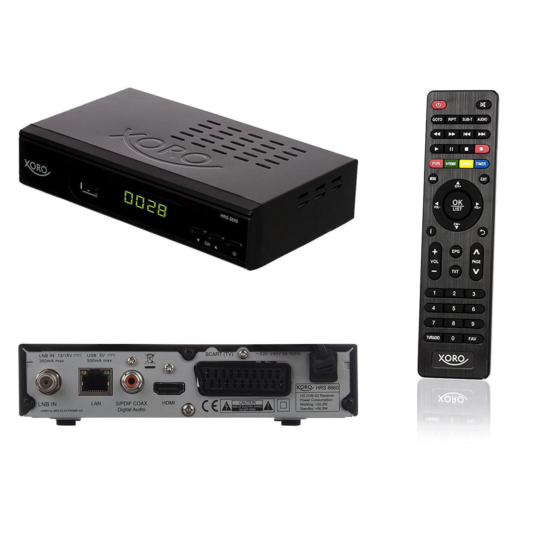 xoro hrs 8660 digitaler satelliten receiver hdtv dvb usb. Black Bedroom Furniture Sets. Home Design Ideas