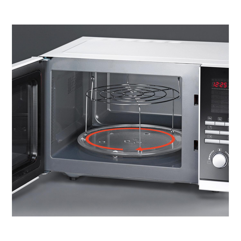 severin mw 9672 mikrowelle 800 watt 23 liter grill und umluft wei. Black Bedroom Furniture Sets. Home Design Ideas