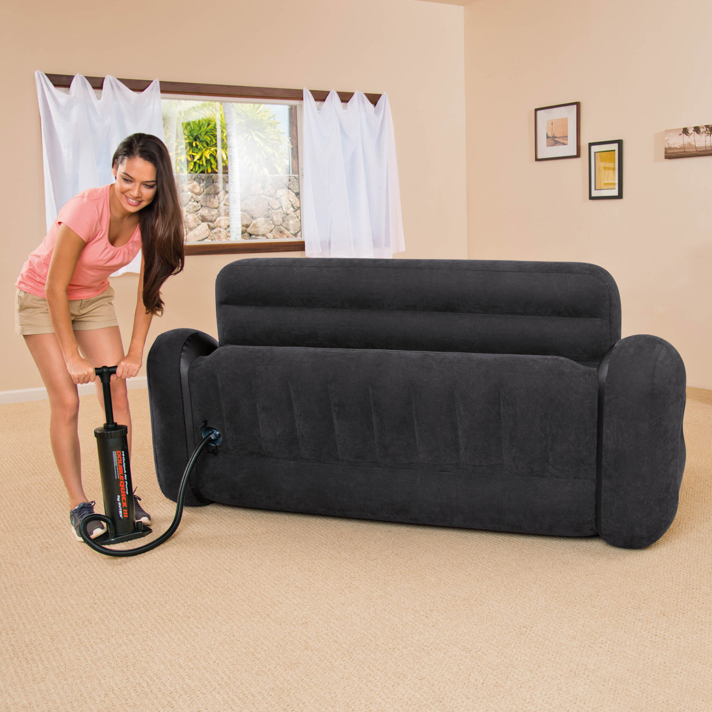 intex sofa couch lounge sessel luftbett ausziehbar camping. Black Bedroom Furniture Sets. Home Design Ideas