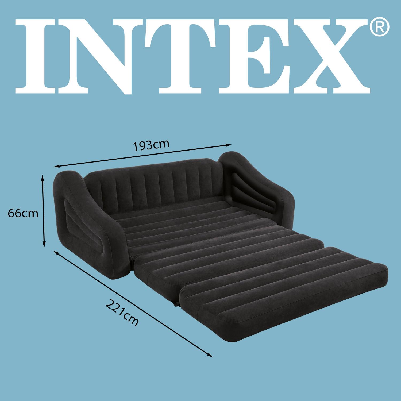 intex sofa couch lounge sessel luftbett ausziehbar camping schlafsofa g stebett ebay. Black Bedroom Furniture Sets. Home Design Ideas