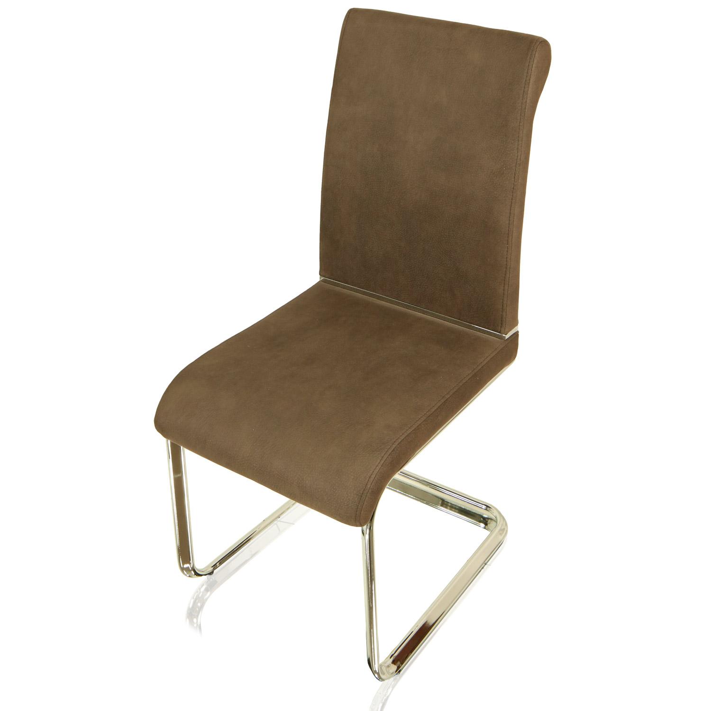 miganeo 2er set esszimmerstuhl schwingstuhl braun. Black Bedroom Furniture Sets. Home Design Ideas