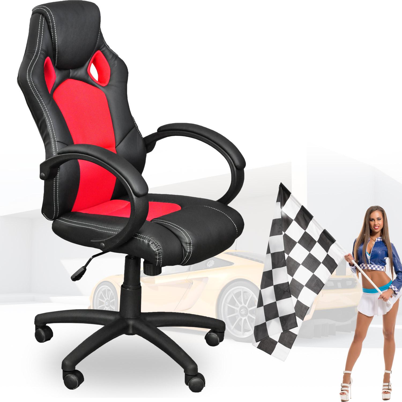 Sedia poltrona ufficio sedia scrivania racing design nero for Sedia design ufficio
