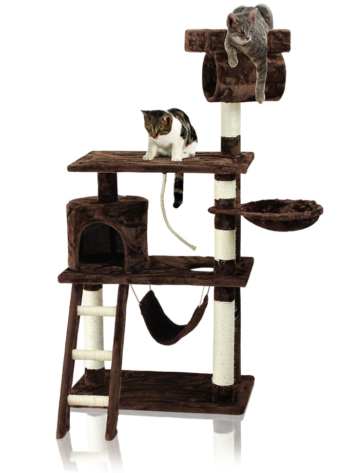 miganeo kratzbaum breit f r katzen 140x65x70cm terrabraun kb 23. Black Bedroom Furniture Sets. Home Design Ideas